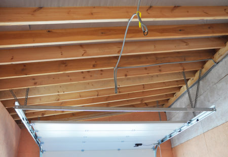 Garage door service required for a loose cable